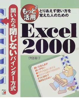 もっと2活用Excel 2000 とりあえず使い方を覚えた人のための