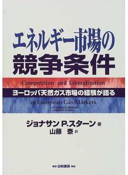 エネルギー市場の競争条件 ヨーロッパ天然ガス市場の経験が語る