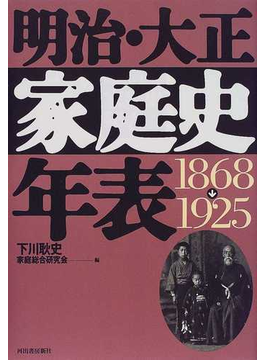 明治・大正家庭史年表 1868→1925
