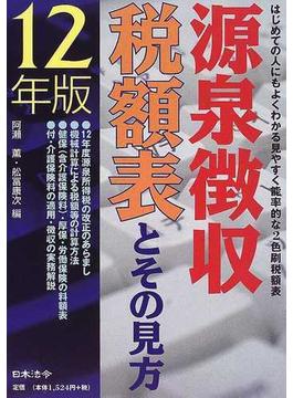 源泉徴収税額表とその見方 平成12年版