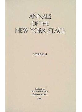 Annals of the New York stage 復刻版 Vol.6 1850−1857