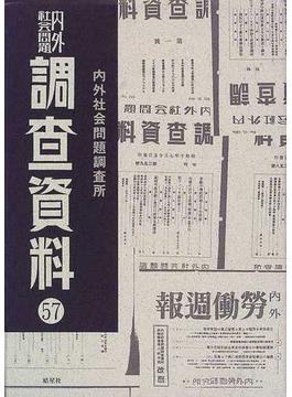 内外社会問題調査資料 復刻 57 第574号〜第586号(一九四三年一〇月一日〜一九四三年一二月二四日)