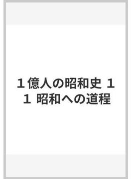 1億人の昭和史 11 昭和への道程