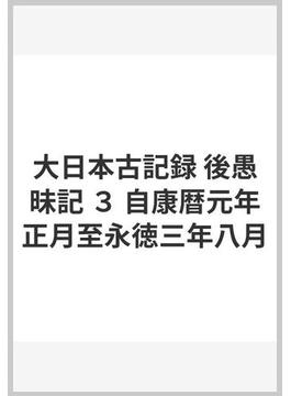 大日本古記録 後愚昧記 3 自康暦元年正月至永徳三年八月