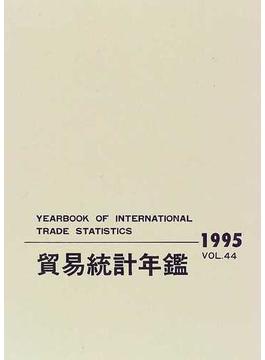 貿易統計年鑑 1995(Vol.44) 第1分冊 国別貿易