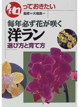 知っておきたい毎年必ず花が咲く洋ラン 選び方と育て方
