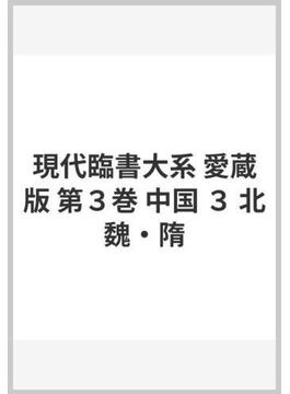 現代臨書大系 愛蔵版 第3巻 中国 3 北魏・隋
