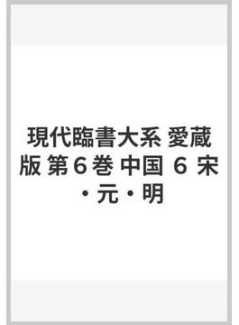 現代臨書大系 愛蔵版 第6巻 中国 6 宋・元・明