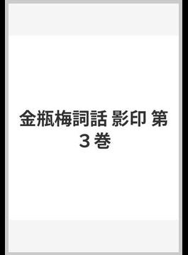 金瓶梅詞話 影印 第3巻