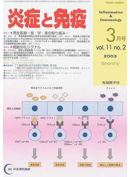 炎症と免疫 Vol.11No.2(2003) 特集Ⅰ再生医療−官・学・産の取り組み−/特集Ⅱ細胞分化シグナル