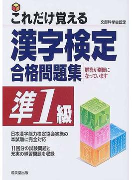 これだけ覚える漢字検定合格問題集準1級