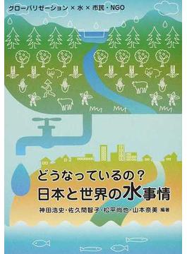 どうなっているの?日本と世界の水事情 グローバリゼーション×水×市民・NGO