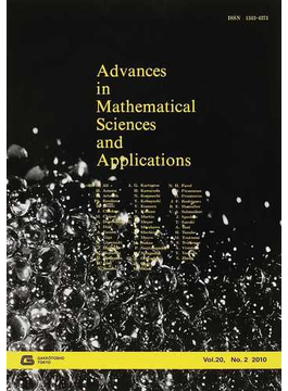 Advances in Mathematical Sciences and Applications Vol.20,No.2(2010)