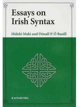 Essays on Irish Syntax