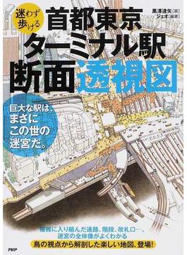 迷わず歩ける首都東京・ターミナル駅断面透視図 巨大な駅は、まさにこの世の迷宮だ。