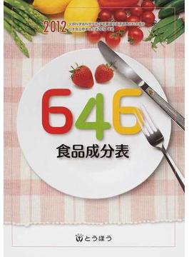 646食品成分表 2012