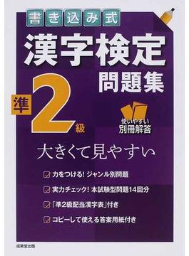 書き込み式漢字検定準2級問題集 大きくて見やすい