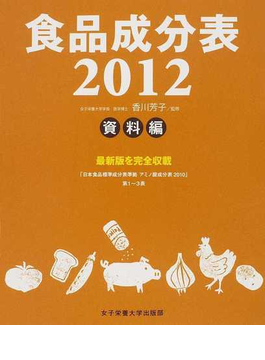 食品成分表 2012資料編