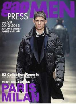 gap PRESS MEN vol.28(2012−2013Autumn & Winter) PARIS,MILAN MEN'S COLLECTIONS