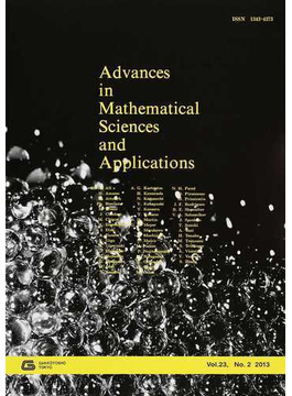 Advances in Mathematical Sciences and Applications Vol.23,No.2(2013)