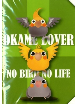 オカメインコミニA6鳥イラストノートNo Bird No Life