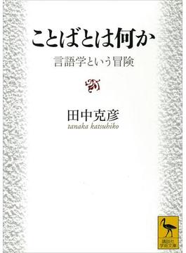 【期間限定価格】ことばとは何か 言語学という冒険(講談社学術文庫)