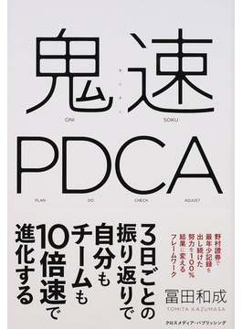 鬼速PDCA PLAN DO CHECK ADJUST
