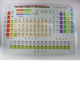 周期表下敷き A4 透明 ブルー