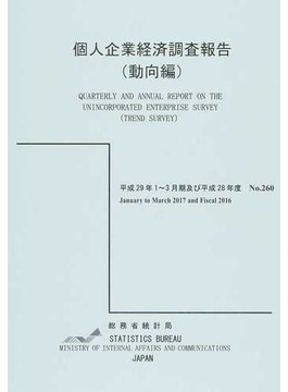 個人企業経済調査報告(動向編) 平成29年1~3月期及び平成28年度