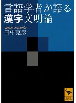 言語学者が語る漢字文明論(講談社学術文庫)