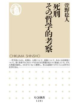 死刑 その哲学的考察(ちくま新書)