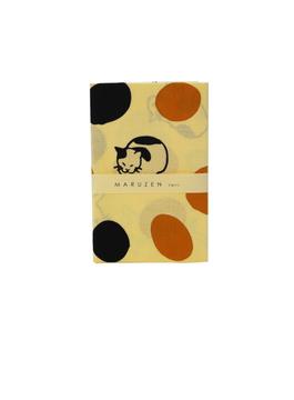 丸善×かまわぬ オリジナル手拭い 三毛猫と白黒猫