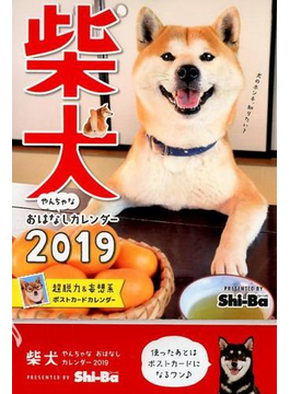 2019カレンダー 柴犬やんちゃな おはなしカレンダー 壁掛・卓上両型