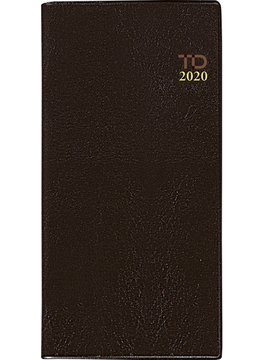 ニューダイアリー 2 手帳 2020年 令和2年 手帳判 ウィークリー 皮革調 茶 No.77 2020年1月始まり