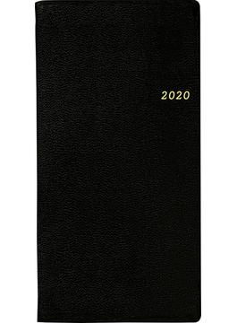 ニューダイアリー 4 手帳 2020年 令和2年 手帳判 ウィークリー 皮革調 黒 No.82 2020年1月始まり