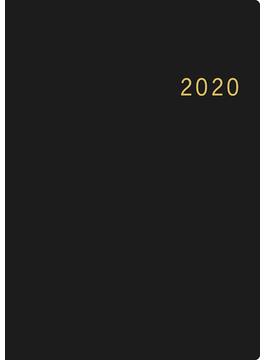 ニューダイアリー 手帳 日記 ダイアリー 2020年 令和2年 A5 ウィークリー 皮革調 黒 No.86 2020年1月始まり