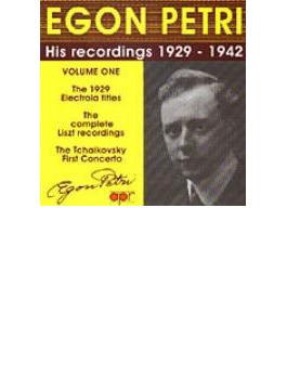 Egon Petri: His Recordings 1929