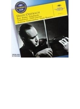 チャイコフスキー:ヴァイオリン協奏曲、ブラームス:ヴァイオリン協奏曲、他 ダヴィド・オイストラフ、コンヴィチュニー、他(2CD)