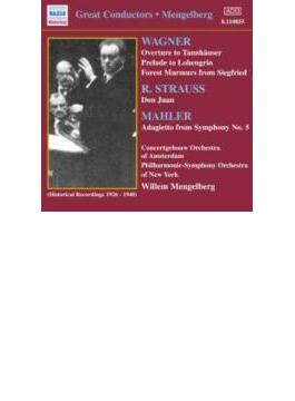 ワーグナー/シュトラウス/他:管弦楽曲集 メンゲルベルク/アムステルダム・コンセルトヘボウ管弦楽団