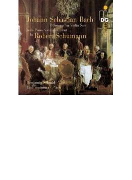 無伴奏ヴァイオリンのためのソナタとパルティータ全曲(シューマン編曲ピアノ伴奏版) シュミット、スミルノワ(2CD)