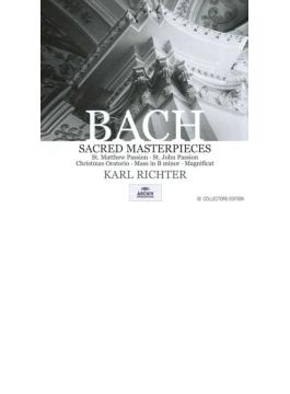 マタイ受難曲、ヨハネ受難曲、ロ短調ミサ、クリスマス・オラトリオ、マニフィカト リヒター(10CD)