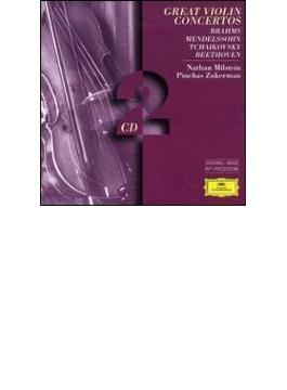 名ヴァイオリン協奏曲集(ブラームス、チャイコフスキー、メンデルスゾーン、他) ミルシテイン(vn)、他(2CD)