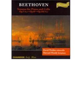 ベートーヴェン:チェロ・ソナタ第2・3・5番 ワトキン(チェロ)ムーディ(fp)