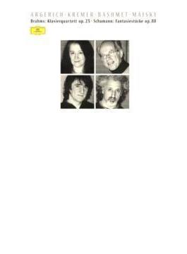 ブラームス:ピアノ四重奏曲第1番、シューマン:幻想小曲集 アルゲリッチ、クレーメル、バシュメット、マイスキー