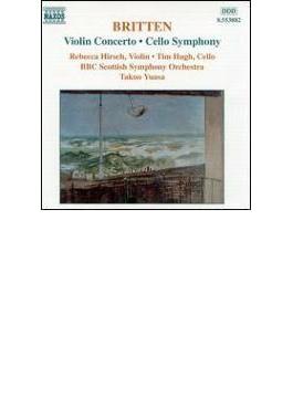 ヴァイオリン協奏曲Op.15/チェロ交響曲Op.68 ヒルシュ/ヒュー/湯浅卓雄/BBCスッコトランド交響