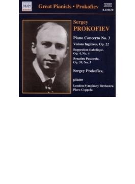 ピアノ協奏曲第3番/「つかの間の幻影」より9曲/他 プロコフィエフ/コッポラ/ロンドン交響楽団