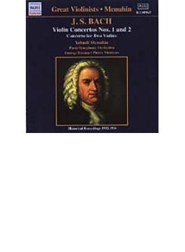 ヴァイオリン協奏曲第1番/第2番/2つのヴァイオリンのための協奏曲 メニューイン/エネスコ/モントゥー/パリ交響楽団