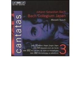 カンタータ全集第3集(第12、54、162、182番) 鈴木雅明&BCJ