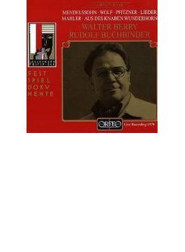 Walter Berry(Bs) Salzburg Recital Mahler, Mendelssohn, Wolf, Pfitzner