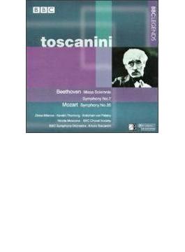 ベートーヴェン:荘厳ミサ曲、交響曲第7番、モーツァルト:交響曲第35番 トスカニーニ&BBC響